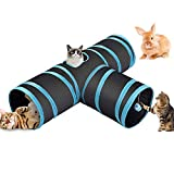 Fhodigogo Tunnel Chat Jeu Chat Tunnel Lapin Pet Tunnel Tube de Tunnel Pliant Chat Tunnel Jouets Tunnel pour Les Chats Lapins, Chiens, Animaux de Compagnie