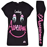 A2Z 4 Kids Enfants Filles Top Looking Awesome Imprime - Looking Awesome Set Black 7-8