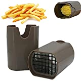Speyang Coupe Frite, Coupe Frites Manuel, Coupe Frites Professionnel, Coupe Pomme de Terre pour Frite, Grille Coupe Frite INOX (Brun)
