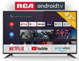 RCA RS43F2 Smart TV (43 Pouces Full-HD Android TV avec Google Assistant, Google Play Store, Prime Video, Netflix) HDMI, USB, WiFi, Bluetooth, Triple Tuner (DVB-C / -T2 / -S2)