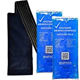 Alerion 2x Premium Fleece Sleeve with Elastic Tape for 12 x 29 Cold-Warm Compress Multiple Compressing Pads (en anglais)