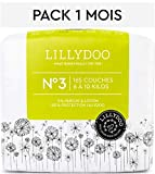 Couches LILLYDOO Taille 3 (6-10 kg) - 165 couches - Pack 1 mois