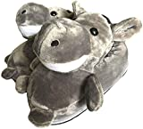 QAQA Animaux Slipper Mode Femmes, Hiver Chaud Elephant/Girafe/Koala/Hamster/Lapin Chaussons, Unisex Adult Cartoon Polaire Chaussures en Peluche Accueil (Color : E, Size : S)