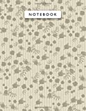 Notebook Lemon Meringue Color Mini Vintage Rose Flowers Small Lines Patterns Cover Lined Journal: College, A4, Monthly, Journal, 8.5 x 11 inch, Work ... 21.59 x 27.94 cm, 110 Pages, Planning