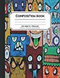 Monster Graffiti Composition Notebook: 7.5 x 9.75 Wide Ruled Notebook with Bonus Coloring Page   Cool Street Art Design   Unique Blank Lined Journal   Fun Creative Writing Notebook for Kids and Teens