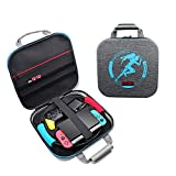 Carrying Case for Nintendo Switch Ring Fit Adventure Ring-Con Handbag,CLarge Shockproof Bag with 24 Game Cards for Switch Console, Pro Controller, Dock, AC Adapter, switch accessories