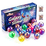 Luclay Galaxy Slime Balls for Kids, Mastic Slime Egg Fluffy and Stretchy- Non Collant, Soulagement du Stress et de l'anxiété - Putty Slime Super Soft & Stretchy - Packs of 18 PCS