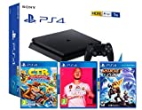 PS4 Slim 1To Console Playstation 4 Noir (Pack 3 Jeux) + FIFA 20 + Crash Team Racing: Nitro Fueled + Ratchet & Clank