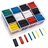 LIBERRWAY 615 Pcs Gaine Thermorétractable 6 Couleurs 8 Tailles Ratio 2:1 Tube Thermorétractable 1-10mm Kit