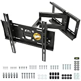 RICOO R23-S Support TV Mural Orientable Inclinable Télévision 31-65' (79-165cm) Fixation Murale Universel LED LCD Incurvée VESA 200x200-400x400