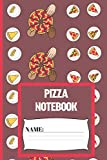 Pizza Notebook: Small funny composition notebook 120 pages (6 x 9 Inch). Pizza plates lined notebook for Pizza lovers
