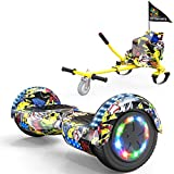 Colorway Overboard Hover Scooter Board Gyropode Bluetooth SUV 6.5 Pouces, Scooter Electrique Moteur 700W Tout-Terrain, Self-Balance Hoverboard avec Roues LED Flash + Hoverkart