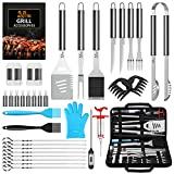 AISITIN Kit Barbecue 35 Pièces Ustensiles Barbecue Portables en Acier Inoxydable pour Jardin Camping Barbecue