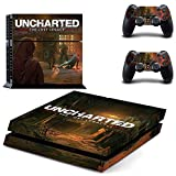 WANGPENG Uncharted The Lost Legacy Ps4 Skin Sticker Decal for Playstation 4 Console and Controller Skin Ps4 Sticker Vinyl Accessory
