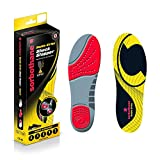 Sorbothane Double Strike Insoles - Red/Grey, Size 8 EU 42