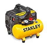 Stanley DST 100/8/6 Compresseur silencieux 59 dB, B2BE104STN703, Giallo Stanley
