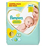 Pampers Protection premium taille 1 x 72 couches, 2 kg à 5 kg.