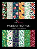 Holiday Florals: Scrapbooking, Design and Craft Paper, 40 sheets, 12 designs, size 8.5 'x 11', from Natalie Osliver