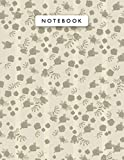 Notebook Lemon Meringue Color Mini Vintage Rose Flowers Lines Patterns Cover Lined Journal: Journal, Work List, 21.59 x 27.94 cm, 110 Pages, Planning, College, Monthly, 8.5 x 11 inch, Wedding, A4