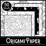 Origami Paper: Easter Theme - Booklet of 50 sheets - Format 21 cm x 21cm - 8,5inch x 8,5inch - (5 models x 10 sheets) - Children and adults