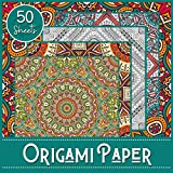 Origami Paper: Ornemental Theme - Booklet of 50 sheets - Format 21 cm x 21cm - 8,5inch x 8,5inch - (5 models x 10 sheets) - Children and adults