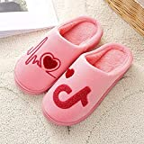 Winter Cotton Slippers Men and Women Thick Bottom Couple Indoor Slip Warm Winter cute-38-39_Green