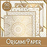 Origami Paper: Luxury Theme - Booklet of 50 sheets - Format 21 cm x 21cm - 8,5inch x 8,5inch - (5 models x 10 sheets) - Children and adults