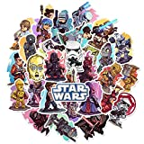 PRXD 50 Pcs Sticker Pack, Graffiti Sticker Decals Vinyls for Laptop, Kids, Teens, Water Bottles, Skateboard, Luggage, Motorcycle, Bumper, DIY Party Supply Patches Decal (Star Wars)