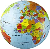 Caly Sarl - 019F - Globe Gonflable Monde - Taille 50 cm