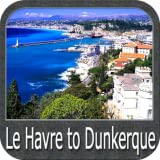 Le Havre to Dunkerque gps map navigator